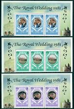 TURKS & CAICOS *1981*compl.set block 3 stamps*MNH** Royal Wedding - Mi.No 542-3