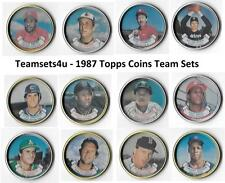 1987 Topps Coins Baseball Team Sets ** Pick Your Team Set **