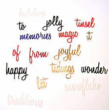 1 Full Set - Christmas Words Die Cuts, Tim Holtz Happy Holidays. Any Colour/Card