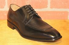 Calzoleria Toscana Men's Oxford Black Leather Dress Shoes Made in Italy 3796