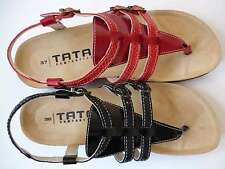 TATAMI Donna lic.by Birkenstock Red Black Sandals 36 Leather Toe post NEW