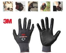 3M Nitrile Industrial Glove Builders Work Gloves Protective Mittens Grip S M L
