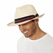 i-Smalls Men's Summer Traditional Panama Hat with Military Style Band