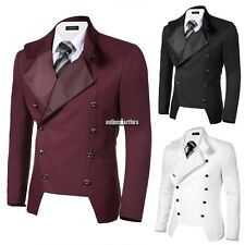 COOFANDY Men Casual Stand Neck Double-breasted Slim Fit Blazer Jacket ONMF
