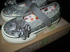 Morgan & Milo Girls Shimmer Mary Jane Charcoal Gray Size 8,9,10,11,12,13  NEW