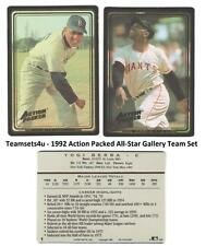 1992 Action Packed All-Star Gallery Baseball Team Sets ** Pick Your Team Set **