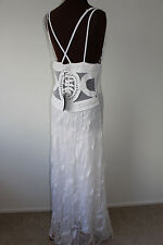 SAVE THE QUEEN LADIES FAB WHITE LACE MAXI DRESS SIZE XL  BRAND NEW !!!