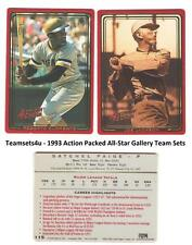 1993 Action Packed All-Star Gallery Baseball Team Sets ** Pick Your Team Set **