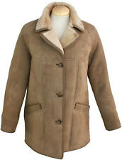 Ladies April Suede Sheepskin Coat - Mushroom Sheepskin Jacket