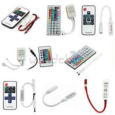 New 3/10/24/44 Keys IR Remote Controller For 3528 5050 RGB LED Strip Light 12V