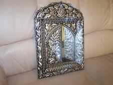 Hand Engraved Oriental/Morrocan Style Brass Wall Mirror with doors 40x30cm new