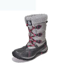 GOMNEAR women winter cotton high top snow hiking boots antiskid waterproof shoes