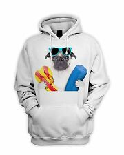 Pug Dog On Holiday Men's Hoodie - Hooded Sweatshirt Funny Cute Pugs