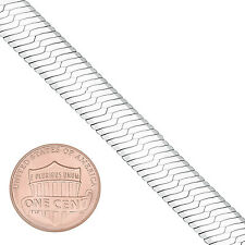 9mm Solid 925 Sterling Silver Italian Crafted Herringbone Chain