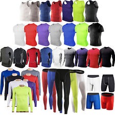 Mens Compression Tight Base Layer Fitness Shirt Running Sports Jersey Leggings