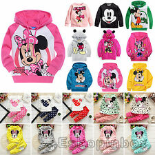 Kids Girls Clothes Cartoon Sweatshirt Boy Hoodie Top Pants Set Baby Suit Sweater