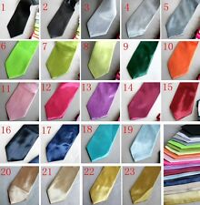 New Adult Solid Color Men Necktie Outfit Polyester Plain Cosplay Neck Ties