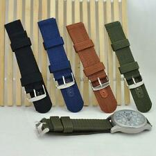 Unisex Infantry Military Army Fabric Buckle Nylon Wrist Watch Band Strap 18-20mm