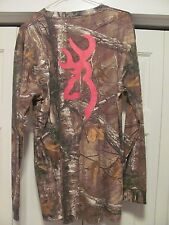NEW (w/ tags) BROWNING Wasatch Long Sleeve Camo Shirt w/ Pink Logo--CLEARANCE!!