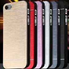 Cool Metal Gold Case For Apple iphone5 5S 5G Aluminum Plastic Hard Back Phone Ac