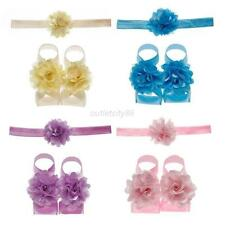 3Pcs Flower Infant Baby Headband Foot Elastic Hair Band Accessories Wholesale