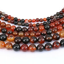 1Pc Dreamy Color Stripes Agate Round Loose Bead Pendant Necklace Jewelry Making