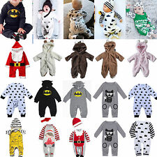 Newborn Baby Girls Boys Long Sleeve Clothes Romper Bodysuit Jumpsuit Outfits Set