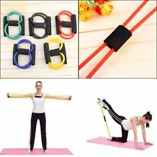 Resistance Band Yoga Pilates Abs Exercise Stretch Fitness Tube Workout Bands New