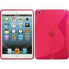 Apple iPad Mini 3 2 1 TPU Case Cover S-Style hot pink + protective foils