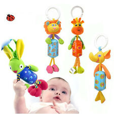 Salings Baby Toy Soft Plush Doll Baby Rattle Ring Bell Crib Bed Hanging Teethers