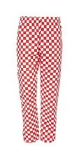 RED and WHITE CHECKERED CHEF TROUSERS Check Pants Professional Catering