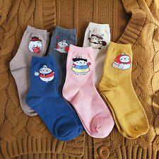 Molang korea Charater Fashion Women Casual Cute color Socks - fairy tale