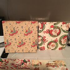 Vintage Christmas Wrapping Paper Assortment