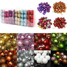 24pcs/6pcs Christmas Tree Balls Xmas Decorations Baubles Party Wedding Ornament