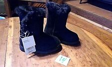 """GIRLS BLACK """"DANNIE"""" CHEROKEE FAUX FUR LINED BOOTS NWT SIZE 5, 6, 7 TODDLER"""