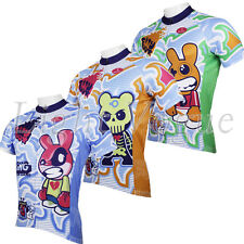 Men Rabbit Jerseys Short Sleeve Cycling Jersey Bike Bicycle Rider Clothing D142s