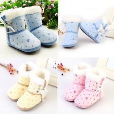 1Pair Winter Fashion Warm Shoes Snow Boots Baby Soft Toddler Infant Crib Newborn
