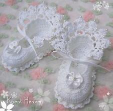 Boutique Christening/Baptism Crochet Antique Lace Baby/Reborn Doll Booties