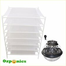 Stainless Bowl Manual Leaf Trimmer Clear Lid Cutter Hydroponic Plant Drying Rack