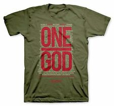ONE GOD SCRIPTURE CHRISTIAN T-SHIRT KERUSSO BRAND