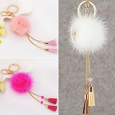 1Pc Fur Ball Tassels Car Keychain Pendant Keys Handbag Phone Key Ring Perfect