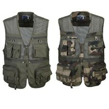 Multi-pocket Hunting Fly Fishing Mesh Vest Photography Jacket Tactical Waistcoat