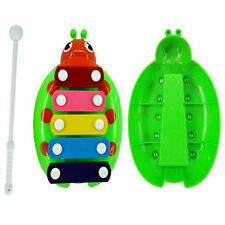 Fashion 5-Note Xylophone Musical Beetle Toy Baby Kids Wisdom Developmental Toy