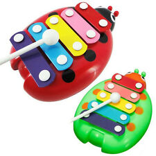 Practice 5-Note Xylophone Musical Beetle Toy Baby Kids Wisdom Developmental Toys