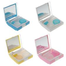 Portable Travel Kit Tweezers Contact Lens Case Box Mirror Container Holder