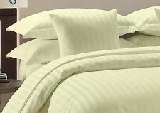 800 TC Ivory Striped-Duvet/Fitted/Sheet Set/Pillow Egyptian Cotton All Size