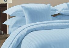 800 TC Light Blue Striped-Duvet/Fitted/Sheet Set/Pillow Egyptian Cotton All Size