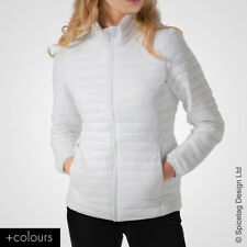 Womens Padded Jacket Coloured Puffer Coat Latest Fashion Trend Wind Zip Up Style