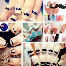 3D DIY Adhesive Nail Art Beard Mustache Sticker Seal Manicure Tape Decals