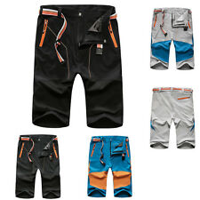 New Summer Mens Quick-Dry Overalls 3/4 Pants Waterproof Climbing Hiking Trousers
